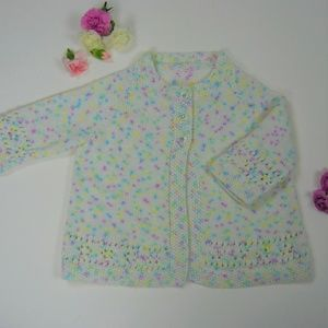 Other - Sweet Soft Sweater Knit Pointelle Cardigan 2T-3T